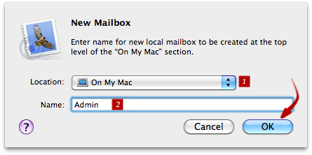 Mac Mail - Add new mailbox / folder