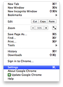 Google Chrome - Settings