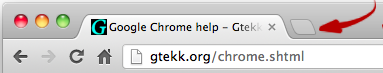 Google Chrome - Open new tab